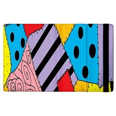 Sally s Patchwork Pattern Apple Ipad 2 Flip Case by Alisyart