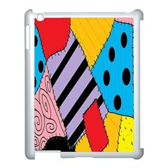 Sally s Patchwork Pattern Apple Ipad 3/4 Case (white)
