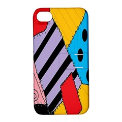 Sally s Patchwork Pattern Apple Iphone 4/4s Hardshell Case With Stand