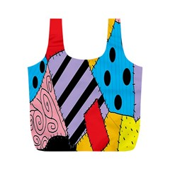 Sally s Patchwork Pattern Full Print Recycle Bags (m)