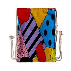 Sally s Patchwork Pattern Drawstring Bag (small) by Alisyart