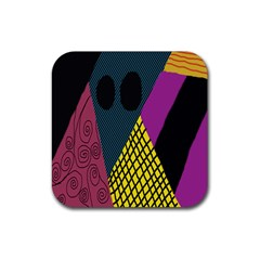 Sally Skellington Fabric Rubber Coaster (square)  by Alisyart