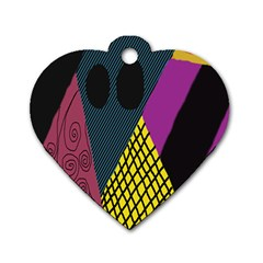 Sally Skellington Fabric Dog Tag Heart (one Side)