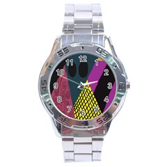 Sally Skellington Fabric Stainless Steel Analogue Watch