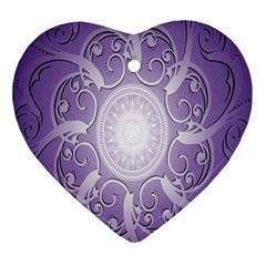 Purple Background With Artwork Ornament (heart) by Alisyart