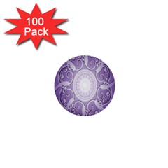 Purple Background With Artwork 1  Mini Buttons (100 Pack)  by Alisyart