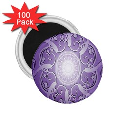 Purple Background With Artwork 2 25  Magnets (100 Pack)  by Alisyart