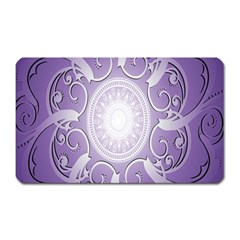 Purple Background With Artwork Magnet (rectangular) by Alisyart
