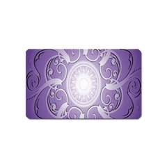 Purple Background With Artwork Magnet (name Card) by Alisyart