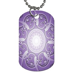 Purple Background With Artwork Dog Tag (two Sides) by Alisyart