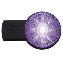 Purple Background With Artwork Usb Flash Drive Round (2 Gb) by Alisyart
