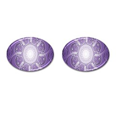 Purple Background With Artwork Cufflinks (oval) by Alisyart
