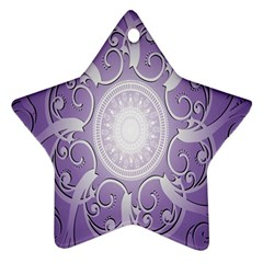 Purple Background With Artwork Star Ornament (two Sides)