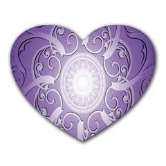 Purple Background With Artwork Heart Mousepads by Alisyart