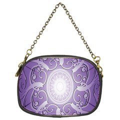 Purple Background With Artwork Chain Purses (two Sides)