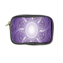 Purple Background With Artwork Coin Purse