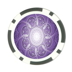 Purple Background With Artwork Poker Chip Card Guard (10 Pack) by Alisyart