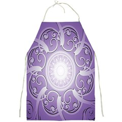 Purple Background With Artwork Full Print Aprons by Alisyart