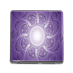 Purple Background With Artwork Memory Card Reader (square) by Alisyart