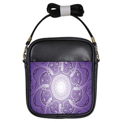 Purple Background With Artwork Girls Sling Bags by Alisyart