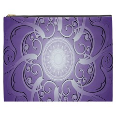 Purple Background With Artwork Cosmetic Bag (xxxl)