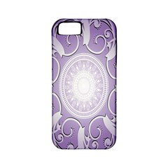 Purple Background With Artwork Apple Iphone 5 Classic Hardshell Case (pc+silicone)