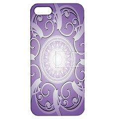 Purple Background With Artwork Apple Iphone 5 Hardshell Case With Stand