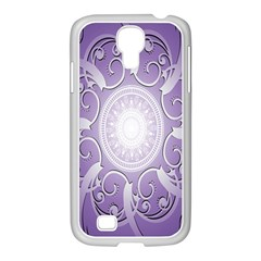 Purple Background With Artwork Samsung Galaxy S4 I9500/ I9505 Case (white)