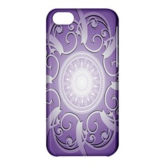 Purple Background With Artwork Apple Iphone 5c Hardshell Case