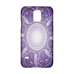 Purple Background With Artwork Samsung Galaxy S5 Hardshell Case