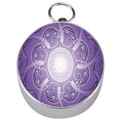 Purple Background With Artwork Silver Compasses by Alisyart