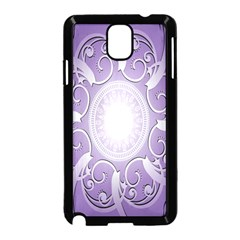 Purple Background With Artwork Samsung Galaxy Note 3 Neo Hardshell Case (black)