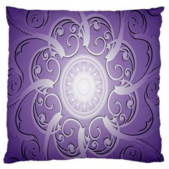 Purple Background With Artwork Standard Flano Cushion Case (one Side)
