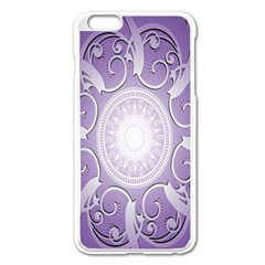 Purple Background With Artwork Apple Iphone 6 Plus/6s Plus Enamel White Case by Alisyart