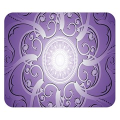 Purple Background With Artwork Double Sided Flano Blanket (small)  by Alisyart