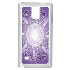 Purple Background With Artwork Samsung Galaxy Note 4 Case (white)