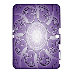 Purple Background With Artwork Samsung Galaxy Tab 4 (10 1 ) Hardshell Case  by Alisyart