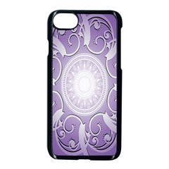 Purple Background With Artwork Apple Iphone 7 Seamless Case (black) by Alisyart