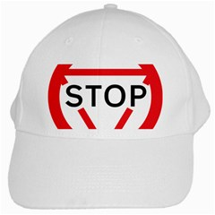 Stop Sign White Cap by Alisyart