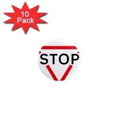 Stop Sign 1  Mini Magnet (10 Pack)  by Alisyart