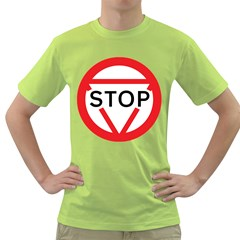 Stop Sign Green T Shirt