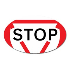 Stop Sign Oval Magnet