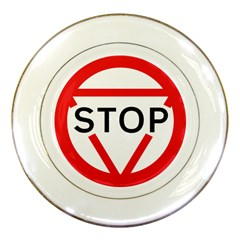 Stop Sign Porcelain Plates by Alisyart