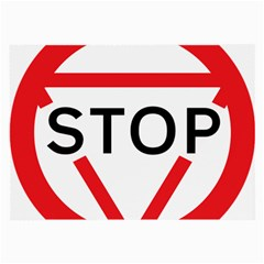 Stop Sign Large Glasses Cloth by Alisyart