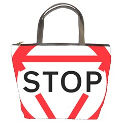 Stop Sign Bucket Bags by Alisyart
