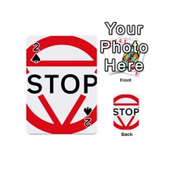 Stop Sign Playing Cards 54 (mini)  by Alisyart