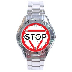 Stop Sign Stainless Steel Analogue Watch by Alisyart