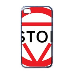 Stop Sign Apple Iphone 4 Case (black)
