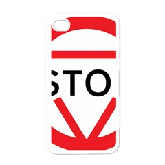 Stop Sign Apple Iphone 4 Case (white) by Alisyart