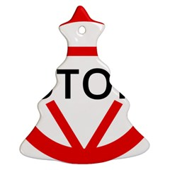 Stop Sign Ornament (christmas Tree)